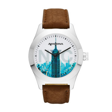 jcpenney.com | Arizona Mens New York Brown Strap Watch