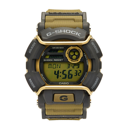 Casio® G-Shock Mens Tan and Gray LED Strap Watch GD400-9
