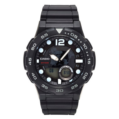 jcpenney.com | Casio® G-Shock Mens Black Analog/Digital Dive Strap Watch AEQ100W-1AV