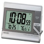 Seiko® Global Radio Wave Travel Alarm With Calensar And Thermometer QHR024SLH