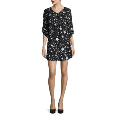 jcpenney.com | Decree® Long-Sleeve Popover Dress - Juniors