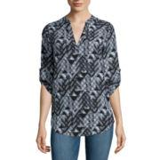Decree® 3/4-Sleeve Woven Top