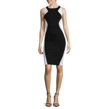 jcpenney.com | Bisou Bisou® Sleeveless Colorblock Bodycon Dress