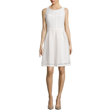 jcpenney.com | Madison Leigh Sleeveless Striped Fit-and-Flare Dress