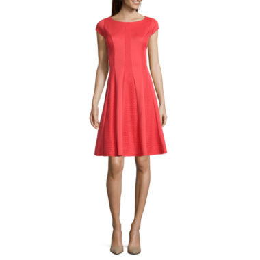 jcpenney.com | Danny & Nicole® Cap-Sleeve Eyelet Fit-and-Flare Dress