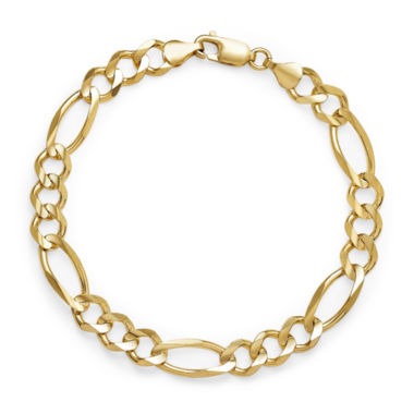 jcpenney.com | 14K Yellow Gold Solid 8.5 In Figaro Bracelet