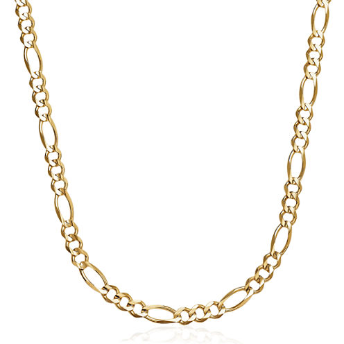 Made in Italy 14K Yellow Gold Solid 24 In Figaro Necklace