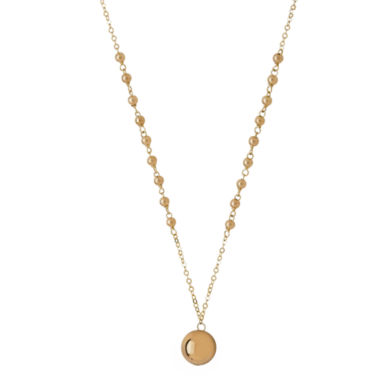 jcpenney.com | Infinite Gold™ 14K Yellow Gold Beaded Pendant Necklace