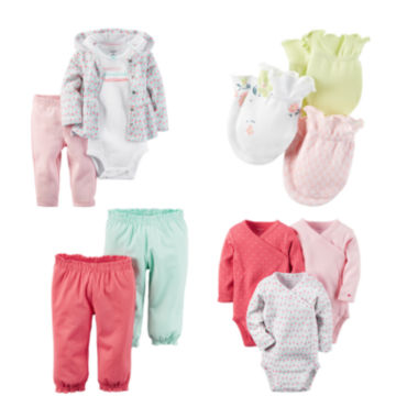 jcpenney.com | Carter's® Pink Geo-Print 3-pc. Layette Set, 3-pk. Mittens, 2-pk. Pants or 3-pk. Bodysuits - Baby Girls newborn-24m