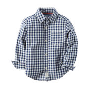 Carter's® Long-Sleeve Navy Check Woven Gingham Shirt - Boys 4-8
