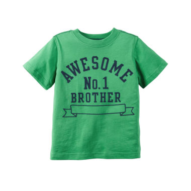 jcpenney.com | Carter's® Short-Sleeve Green Brother Knit Tee - Boys 4-8