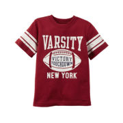 Carter's® Short-Sleeve Red Football Slogan Knit Tee - Boys 4-8