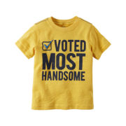 Carter's® Short-Sleeve Yellow Handsome Slogan Knit Tee - Boys 4-8