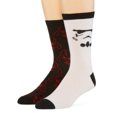 jcpenney.com | Star Wars® 2-pk. Casual Crew Socks