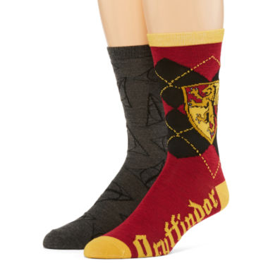 jcpenney.com | Warner Bros. Harry Potter® 2-pk. Casual Crew Socks
