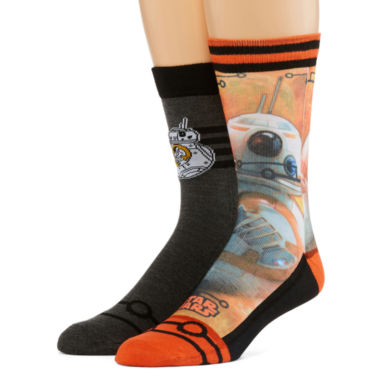 jcpenney.com | Star Wars® 2-pk. Sublimated Crew Socks