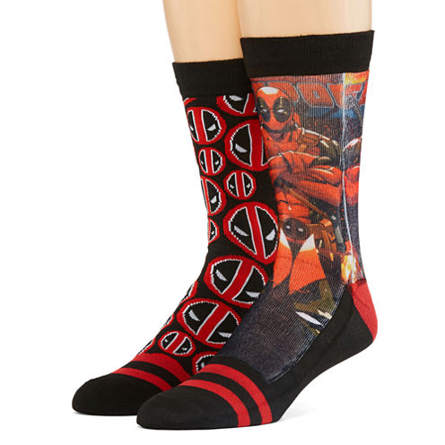 Marvel® Deadpool 2-pk. Sublimated Crew Socks