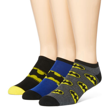 jcpenney.com | DC Comics® Batman 3-pk. Low-Cut Socks