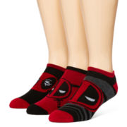 Marvel® Deadpool 3-pk. Athletic Low-Cut Socks