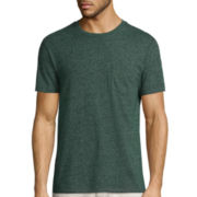 St. John's Bay® Short-Sleeve Slim-Fit Pocket Tee