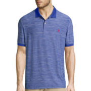 U.S. Polo Assn.® Short-Sleeve Space Dye Performance Polo