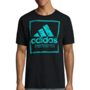 adidas® Short-Sleeve Logo Stamp Camo Tee