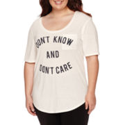Short-Sleeve Front-Pocket Tunic Tee - Juniors Plus