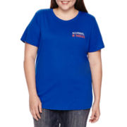 Arizona Short-Sleeve Screen Tee - Juniors Plus
