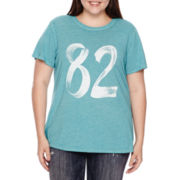 Arizona Short-Sleeve Burnout Screen Tee - Juniors Plus