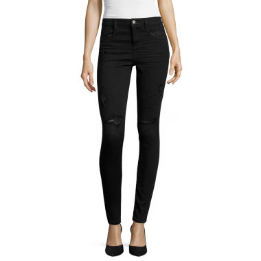 jcpenney.com | Arizona Luxe Stretch Destructed High-Rise Jeggings