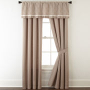 Liz Claiborne® Viceroy 2-Pack Rod-Pocket/Back-Tab Lined Curtain Panels