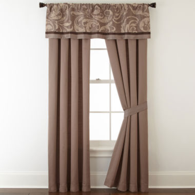 jcpenney.com | Liz Claiborne® Mallorca 2-pk. Rod-Pocket Curtain Panels