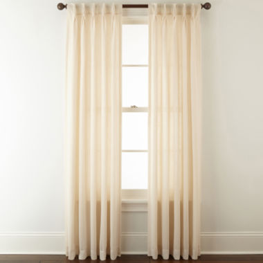 jcpenney.com | JCPenney Home™ Bayview Pinch-Pleat/Back-Tab Semi-Sheer Curtain Panel