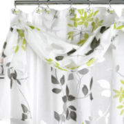 Popular Bath Mayan Leaf Shower Curtain