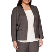Worthington® Long-Sleeve Mixed Media Seamed Blazer - Plus