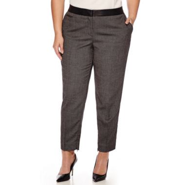 jcpenney.com | Worthington® Slim Suiting Ankle Pants - Plus