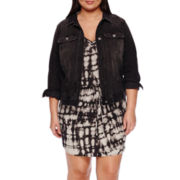 a.n.a® Sleeveless Tie-Dye Dress or Denim Jacket - Plus