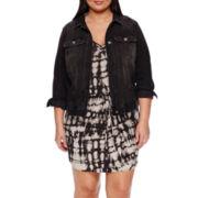 a.n.a® Sleeveless Tie-Dye Dress or Denim Jacket - Plus