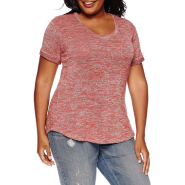 jcpenney.com | a.n.a® Short-Sleeve High-Low Hem Tee - Plus