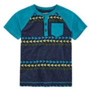 Arizona Short-Sleeve Henley Tee - Preschool Boys 4-7