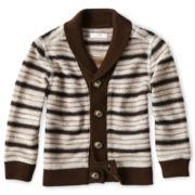 Joe Fresh™ Striped Knit Cardigan - Boys 3m-24m