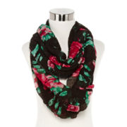 Ruched Floral Scarf