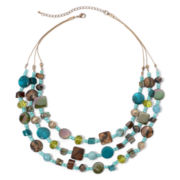 Mixit™ Simulated Turquoise Illusion Necklace