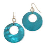 Mixit™ Simulated Turquoise Shell Earrings