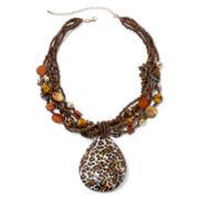 Mixit™ Animal-Print Teardrop Pendant Necklace