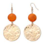 Mixit™ Hammered Gold-Tone Disc Earrings
