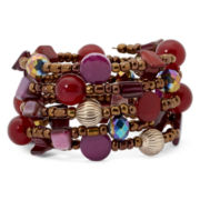 Mixit™ Berry Beaded Coil Bracelet