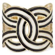 Pannee Black Enamel Cuff Bracelet