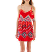 Love Reigns Sleeveless Print Popover Dress