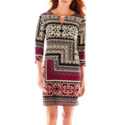 Tiana B. 3/4-Sleeve Print Sheath Dress